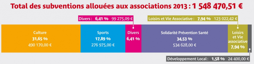 Total subventions associations 2013