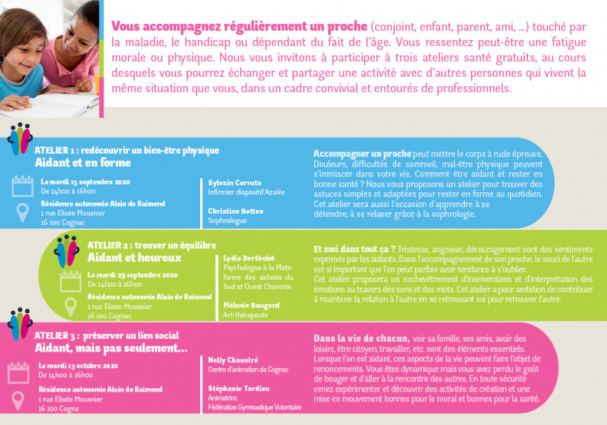 Ateliers aidants / Flyer informations -  PDF - 1.7 Mo